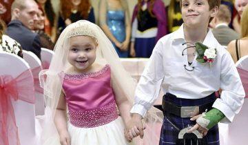 Смертельно больная 5-летняя девочка попросила о «свадьбе» с её лучшим другом