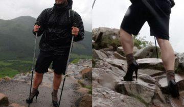 На вершину горы на 13-см каблуках ради корыстной цели! Эх, молодость…