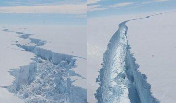 Триллионы тонн льда в свободном плавании — от Антарктиды откололся крупнейший в истории айсберг