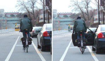 Голландский прием: как избежать удара велосипедиста дверью своего автомобиля