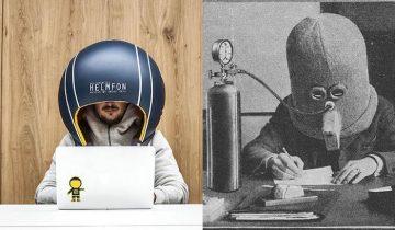 Спустя целый век заново изобретен «шлем студента» и это… весьма забавно