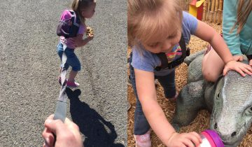 Фото 3-летней девочки на поводке взбудоражило Интернет, но отец непоколебим: дикий ребенок