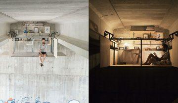 Дизайнер построил себе секретную студию прямо под оживленным мостом