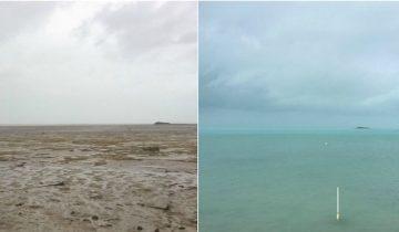 Океан исчез! Редчайшее явление — ураган Ирма осушил побережье Багамских островов