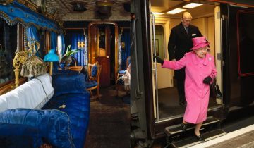 «Букингемский дворец на колесах»: как устроен личный поезд, в котором ездит британская королева?