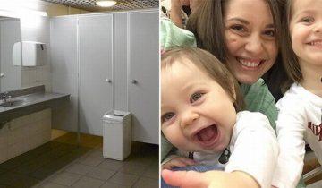 Маленькая девочка испугалась туалета и закапризничала, но на помощь пришла незнакомка
