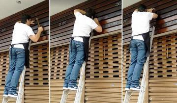Чтобы спасти котенка, бразилец бросился ломать фасад чужого магазина