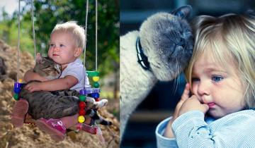 17 альтернативных причин, почему каждому малышу нужна кошка