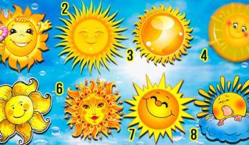 Солнечный тест: выбери солнышко и узнай о себе кое-что интересное!