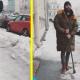 Иван Ургант вышел на улицы Петербурга с ломом, чтобы убрать лед