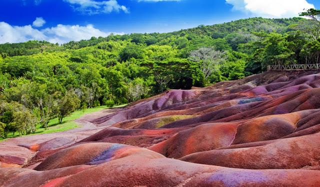 разноцветные дюны