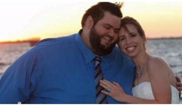Парень перед свадьбой решил сбросить вес. В итоге он похудел на 145 кг.