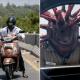 Сильные впечатления вместо уговоров: в Ченнаи полицейский ловит нарушителей в особом шипастом шлеме