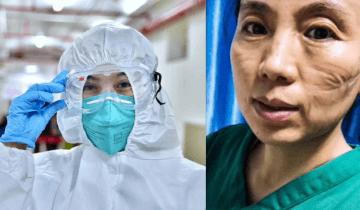 Как выглядят лица врачей после рабочих смен в больницах