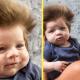 2-месячный мальчик с необыкновенно густыми и пушистыми волосами уже подрос