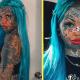 Девушка замаскировала тату на лице тональным кремом — и аж сама себя испугалась
