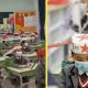 Китайские школьники теперь носят шляпы для соблюдения дистанции