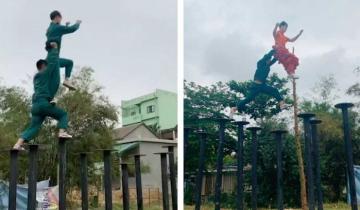 Азиатский танец льва: тренировка невероятных «попрыгунчиков»