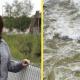 Женщина чудом смогла выловить из бурлящей воды коляску с 2-летним малышом