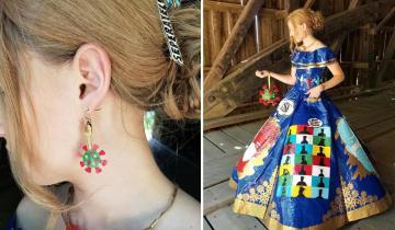 Девушка потратила более 400 часов, для создания выпускного наряда… из скотча