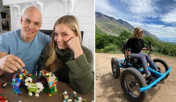 Муж изобрел для своей жены с инвалидностью коляску-внедорожник, которой не страшны любые преграды