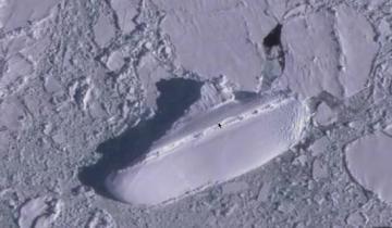 Загадочный ледяной «корабль» обнаружен на картах Google Earth вблизи Антарктиды
