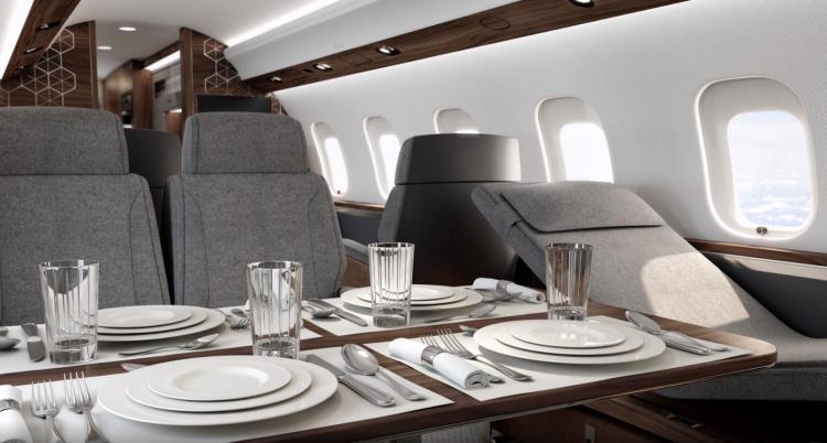 лий Грингуз отметил инновационное содержание Bombardier Global 6500, заключённое в потрясающую форму