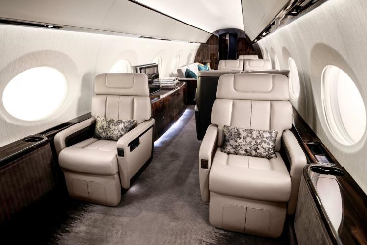 Gulfstream G600 имеет самый длинный салон среди подобных моделей авиакомпании Novans Jets