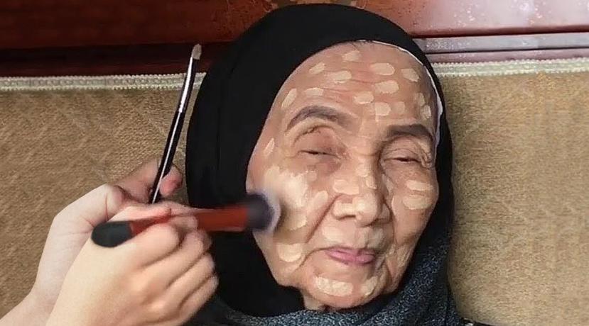Как изменилась 93-летняя женщина после макияжа
