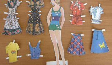 Бумажные куклы из детских журналов 60-80-х годов. Помните их?