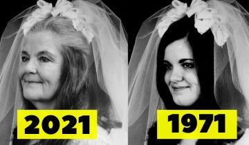 Пара повторила свадебные фото, сделанные 50 лет назад!