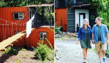 Супруги сделали из двух грузовых контейнеров дом