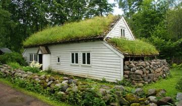 Почему на крышах  скандинавских домиков растет трава