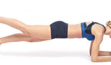 4 варианта планки, которые помогут получить плоский живот и стройные бедра