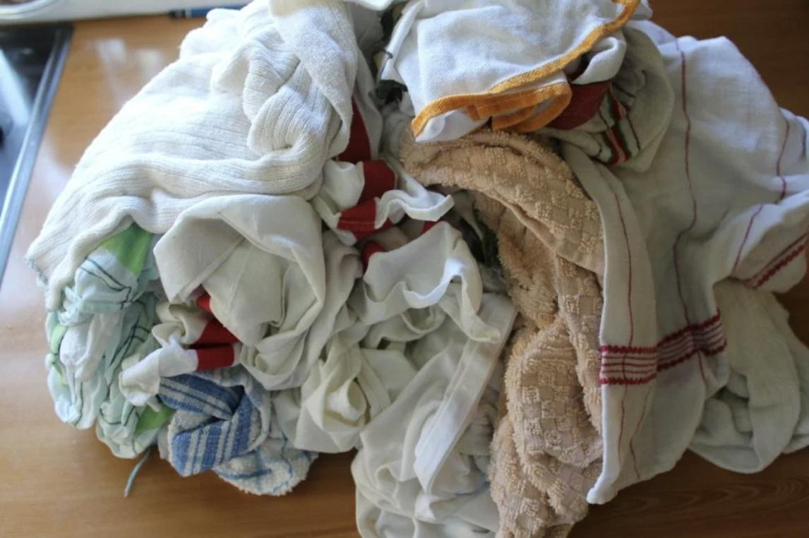 За 3 минуты мои кухонные полотенца чистые и пахнут свежестью