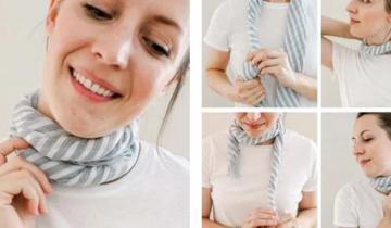 5 интересных способов, как красиво завязать шарф на шее