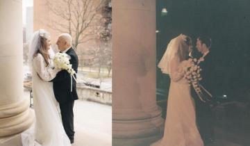 Супружеская пара отметила «Золотую свадьбу», повторив снимки прошлого